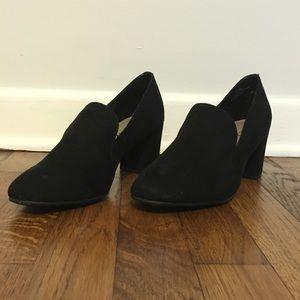 Black Heeled Loafers